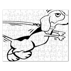 Dog Leash Lead Running Animal Rectangular Jigsaw Puzzl