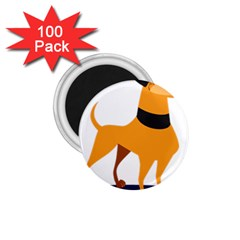 Stub Illustration Cute Animal Dog 1 75  Magnets (100 Pack)