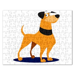 Stub Illustration Cute Animal Dog Rectangular Jigsaw Puzzl
