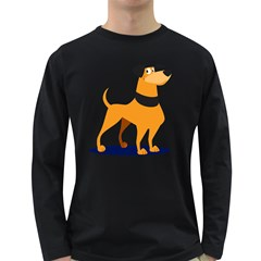 Stub Illustration Cute Animal Dog Long Sleeve Dark T Shirts