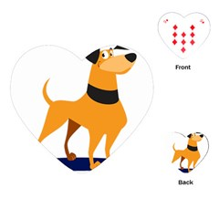 Stub Illustration Cute Animal Dog Playing Cards (heart)
