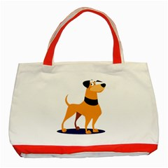 Stub Illustration Cute Animal Dog Classic Tote Bag (red)