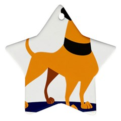 Stub Illustration Cute Animal Dog Star Ornament (two Sides)