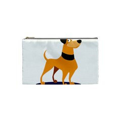 Stub Illustration Cute Animal Dog Cosmetic Bag (small)