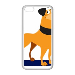 Stub Illustration Cute Animal Dog Apple Iphone 5c Seamless Case (white)