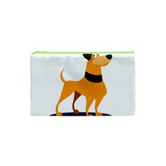 Stub Illustration Cute Animal Dog Cosmetic Bag (xs) by Nexatart