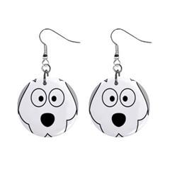 Animal Cartoon Colour Dog Mini Button Earrings