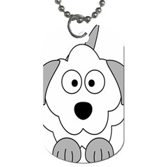 Animal Cartoon Colour Dog Dog Tag (two Sides)
