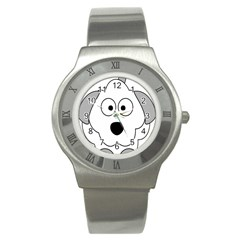 Animal Cartoon Colour Dog Stainless Steel Watch
