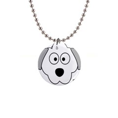 Animal Cartoon Colour Dog Button Necklaces by Nexatart