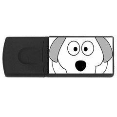 Animal Cartoon Colour Dog Rectangular Usb Flash Drive