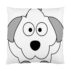Animal Cartoon Colour Dog Standard Cushion Case (one Side)
