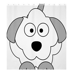 Animal Cartoon Colour Dog Shower Curtain 66  X 72  (large)