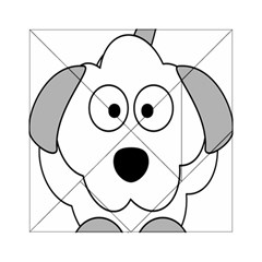 Animal Cartoon Colour Dog Acrylic Tangram Puzzle (6  X 6 )