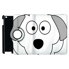 Animal Cartoon Colour Dog Apple Ipad 2 Flip 360 Case