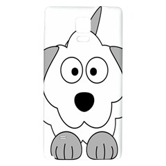 Animal Cartoon Colour Dog Galaxy Note 4 Back Case