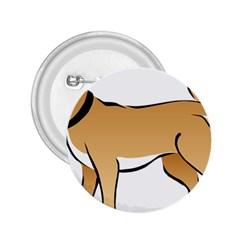 Dog Brown Pet Animal Tail Eskimo 2 25  Buttons