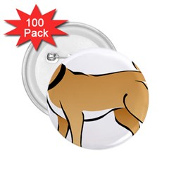 Dog Brown Pet Animal Tail Eskimo 2 25  Buttons (100 Pack)