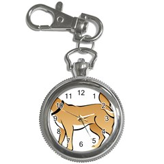 Dog Brown Pet Animal Tail Eskimo Key Chain Watches