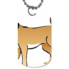 Dog Brown Pet Animal Tail Eskimo Dog Tag (two Sides)