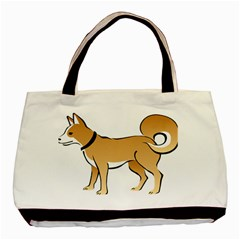 Dog Brown Pet Animal Tail Eskimo Basic Tote Bag