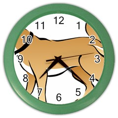 Dog Brown Pet Animal Tail Eskimo Color Wall Clocks