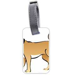 Dog Brown Pet Animal Tail Eskimo Luggage Tags (two Sides)