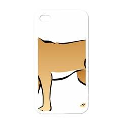 Dog Brown Pet Animal Tail Eskimo Apple Iphone 4 Case (white)
