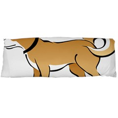 Dog Brown Pet Animal Tail Eskimo Body Pillow Case (dakimakura)