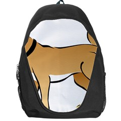 Dog Brown Pet Animal Tail Eskimo Backpack Bag