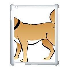 Dog Brown Pet Animal Tail Eskimo Apple Ipad 3/4 Case (white)