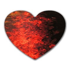 Reflections At Night Heart Mousepads