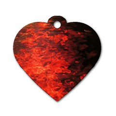 Reflections At Night Dog Tag Heart (two Sides)