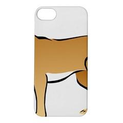 Dog Brown Pet Animal Tail Eskimo Apple Iphone 5s/ Se Hardshell Case