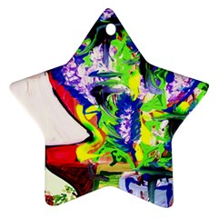 Lilac, Lamp And Curtain Window 1 Ornament (star)