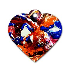 Smashed Butterfly 1 Dog Tag Heart (two Sides) by bestdesignintheworld