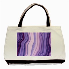 Marbled Ultra Violet Basic Tote Bag (two Sides) by 8fugoso