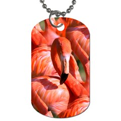 Pink Flamingo Flock Pattern Dog Tag (two Sides)