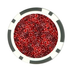 Sweet Cherries Poker Chip Card Guard by eyeconart