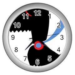 Dog Scottish Terrier Scottie Wall Clocks (silver)