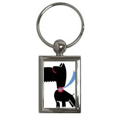 Dog Scottish Terrier Scottie Key Chains (rectangle)