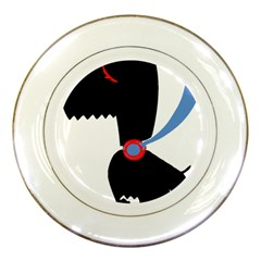 Dog Scottish Terrier Scottie Porcelain Plates