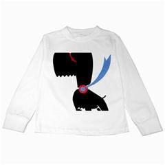 Dog Scottish Terrier Scottie Kids Long Sleeve T Shirts