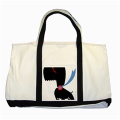 Dog Scottish Terrier Scottie Two Tone Tote Bag