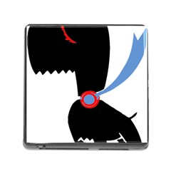 Dog Scottish Terrier Scottie Memory Card Reader (square) by Nexatart