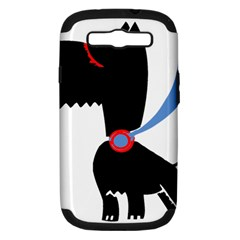 Dog Scottish Terrier Scottie Samsung Galaxy S Iii Hardshell Case (pc+silicone)