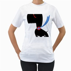 Dog Scottish Terrier Scottie Women s T Shirt (white)  by Nexatart