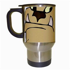 Bulldog Dog Head Canine Pet Travel Mugs (white)