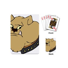 Bulldog Dog Head Canine Pet Playing Cards (mini)