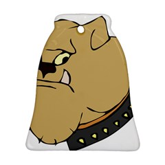 Bulldog Dog Head Canine Pet Bell Ornament (two Sides)